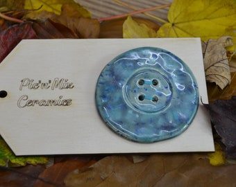 Large Handmade Ceramic Button, For Fashion, Sewing And Haberdashery