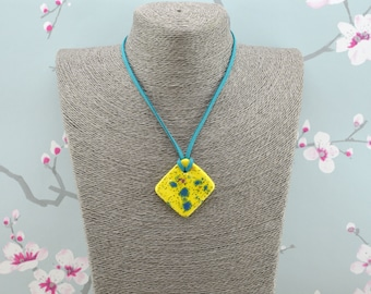 Handmade Ceramic Statement Pendant Necklace, Birthday, Anniversary Gift For Her