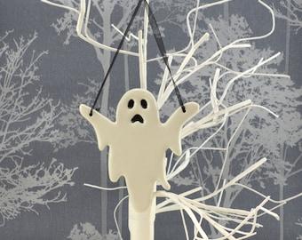 Handmade Ceramic Halloween Ghost, Halloween Decor Decoration
