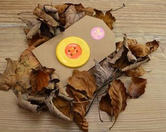 Large Handmade Ceramic Button, For Fashion, Sewing, Haberdashery, Clothing, Craft, Upcycling