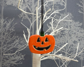Handmade Ceramic Halloween Pumpkin, Halloween Decor Pumpkin Decoration