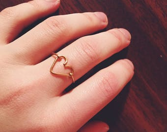 Michela Style Ring - Delicate Copper Heart Ring