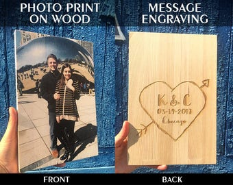 Wood Wall Art, Custom Wooden Picture, Personalized Wood Sign, Picture on Wood, Photo Printed on Wood, Gift for Boyfriend, Gift for Mother