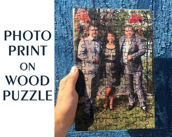 Personalized WOOD Puzzles, Picture Into Puzzle,Image On Puzzle, Custom Photo Gifts, Grandparents Puzzle, Artwork Puzzle, Custom Photo Puzzle