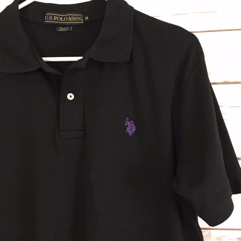 267bad80a39 Mens Vintage U.S. Polo Assn Shirt US Size Medium M Purple Logo