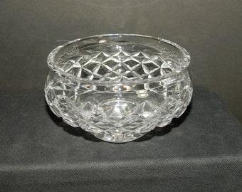 Crystal Low Footed Vase