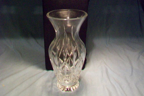 Incredible Clear Block German Crystal Vase