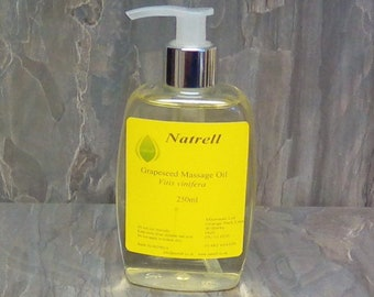 250ml Grapeseed Massage Oil Pump Action Bottle