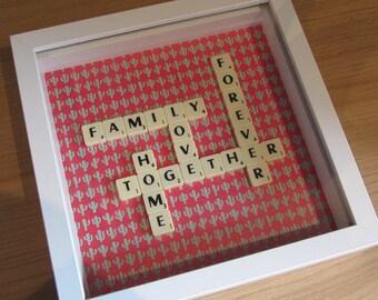 Family Scrabble Art Frame