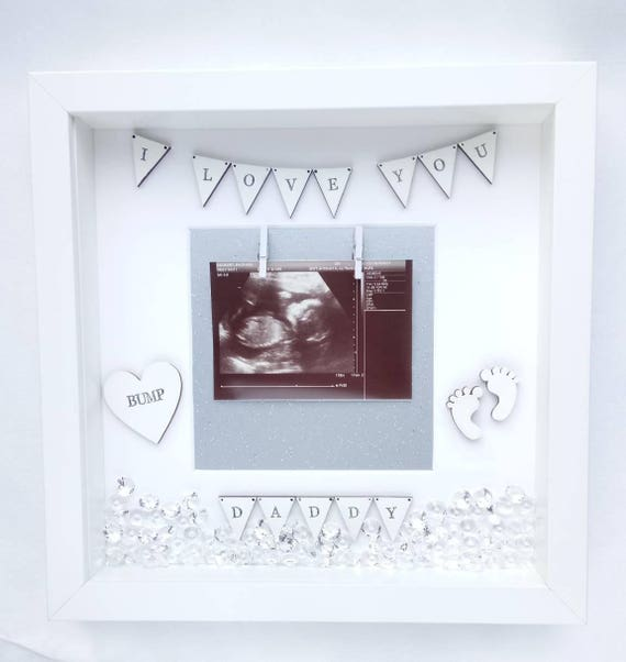 I Love You Daddy Scan Frame Nursery Babys Scan Photo Frame | Etsy