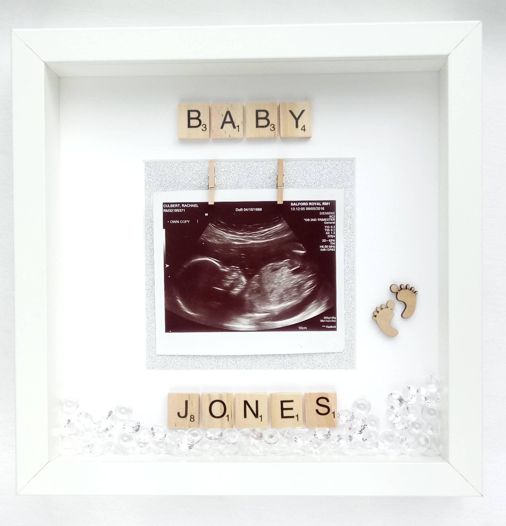 24 X 10Cm Baby Scan Photo Frame Plaque