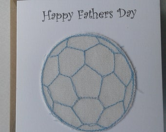Original Textile Art Fathers Day Card