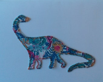 Original Textile Art Hand Made Dinosaur Greetings Card