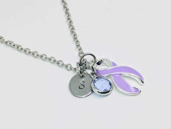 Necklace Custom Muscular Dystrophy Health Awareness Silver Chain Choose MOM OR DAD only Jewelry