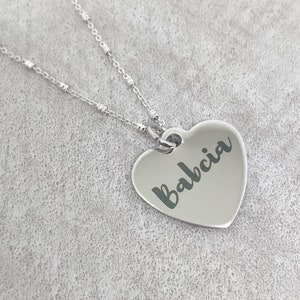 Babci necklace babcia grandmother necklace Babci gift Babci jewelry Babci gift
