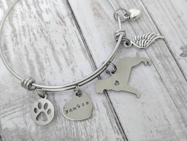 pet loss gift dog remembrance gift Rottweiler sympathy gift Rottweiler memorial bracelet pet loss bracelet