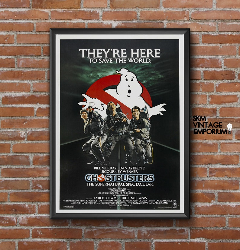 Ghostbusters 1984 Movie Poster Sizes A3 A0 Free Uk Etsy