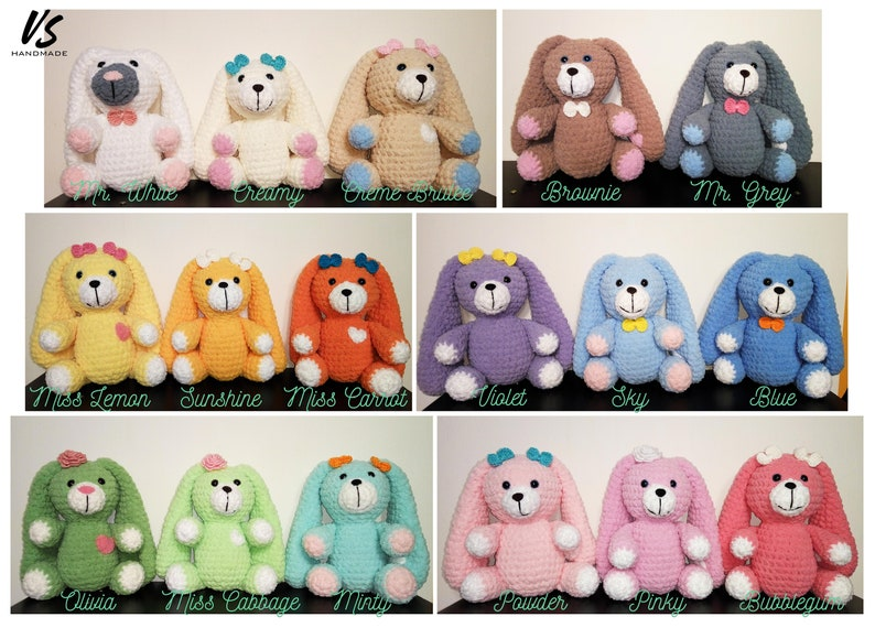 Cute bunny baby soft toy Great baby shower gift birthday gift by VSHandmadeLV crochet amigurumi plush with floppy ears stuffed animal