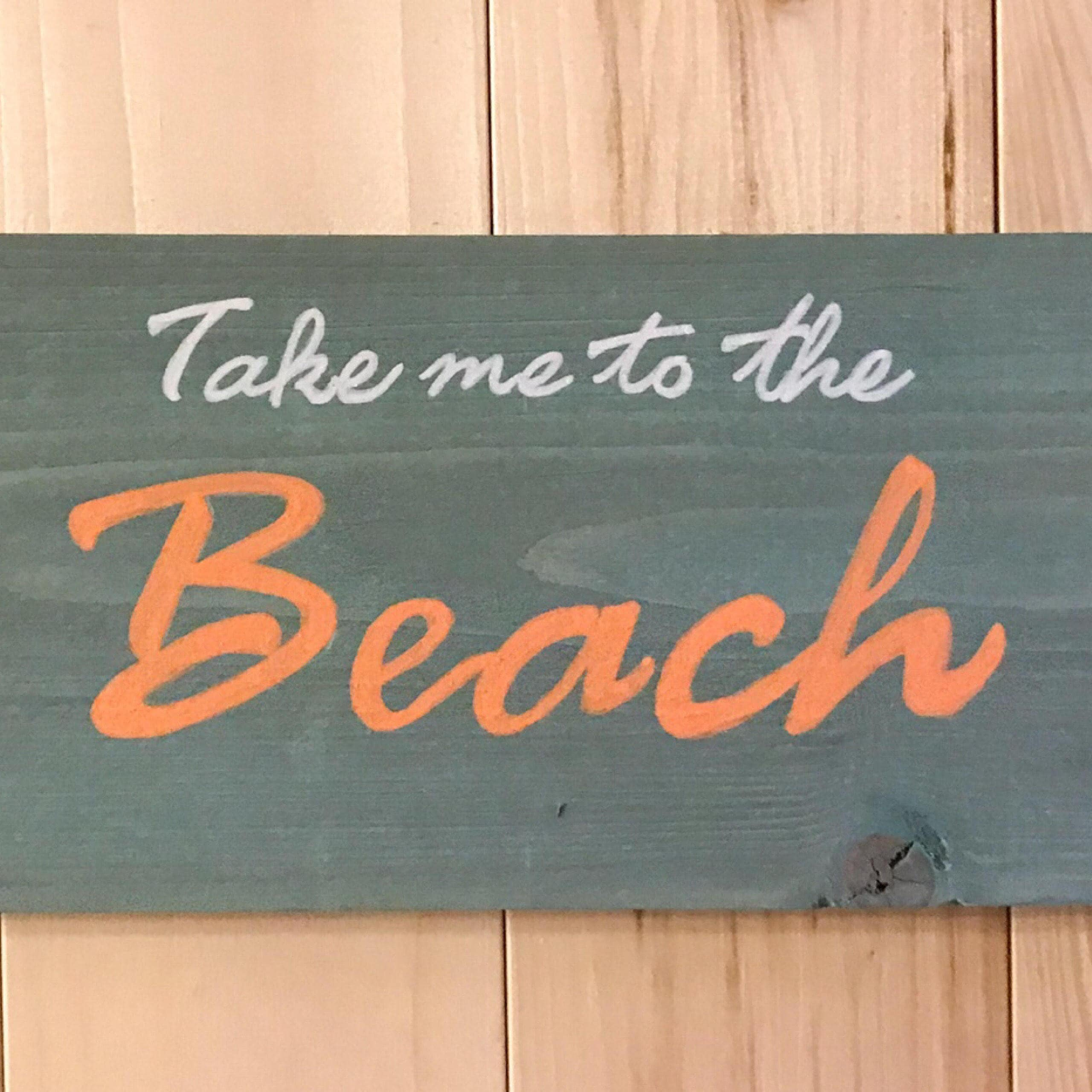 Rustic Wood Beach Sign Primitive