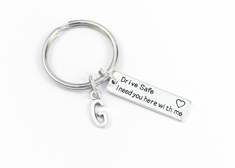 Drive Safe Handsome I Love You Driver//Trucker//Pilot Keychain Gift Keyring