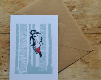Greetings Card // Woodpecker