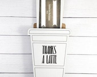 Thanks A Latte Svg Etsy