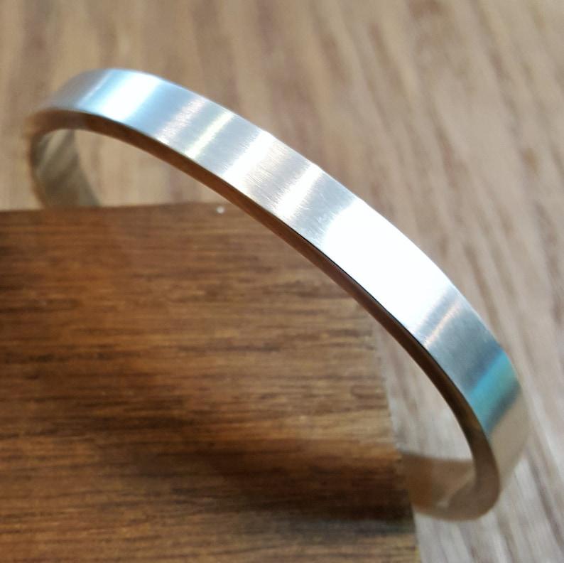 Polished Finish 30g Solid Silver Full Bangle Bracelet Mens or Ladies Silver Bangle