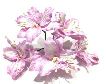 Lilac Mulberry Paper Lillies Lil005