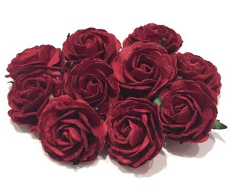 Deep Red Heritage Roses Hr004