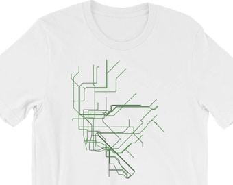 Nyc Subway Map Tshirt.Subway Map Shirt Etsy