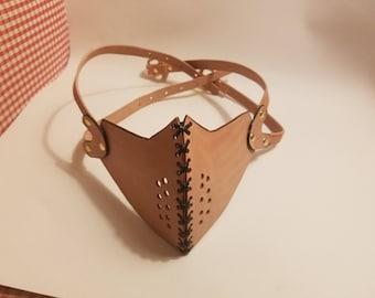 Leather Half Mask