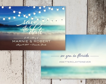 Beach Wedding Save the Date Digital File