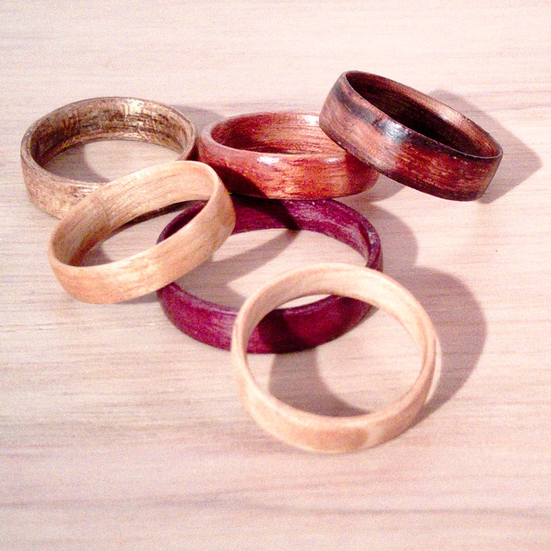 Single Wood Bentwood Ring  SimpliciTree image 0