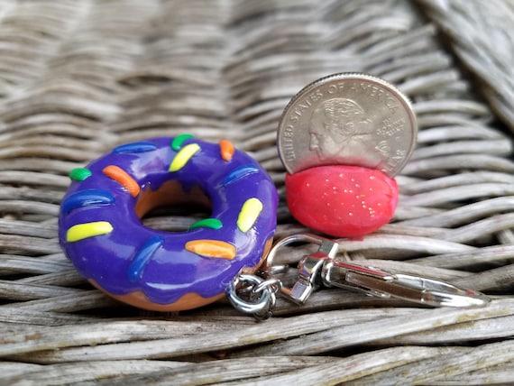 Galaxy Blend Donut Keychain Charm