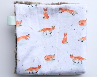 Red Foxes, Minky and Faux Fox Lovey