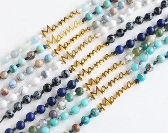 Mama Gemstone and Knots Bracelet