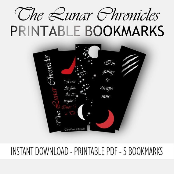 The Lunar Chronicles Printable Bookmarks Instant Download Etsy