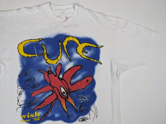 Vtg The Cure 1992 Wish Tour XL Shirt