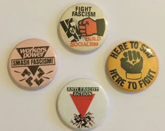 Anti-Fascist Pin Badge Set Anti-Racist Anti-Nazi Antifa Socialist Buttons