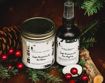 Duo Candle + Mist of atmosphere with balsam fir