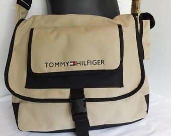 Vintage Tommy Hilfiger Nylon Messenger Laptop Bag