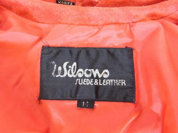 Vintage 80's Wilsons Suede Leather Fringe Moto Ja… - image 8