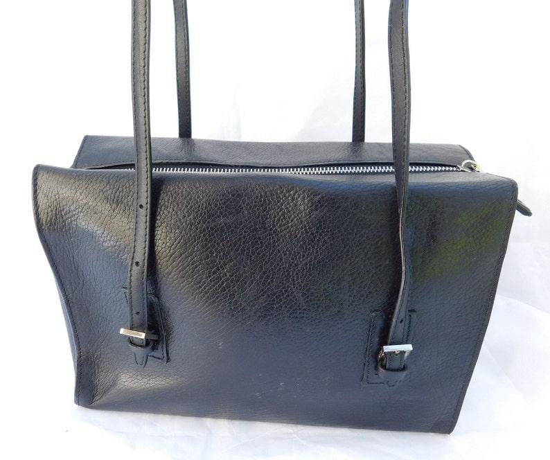 4102f1cdf6713 Vintage Bally Black Studded Leather Shoulder Handbag Purse