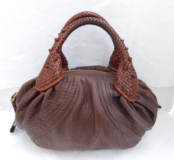 Authentic Vintage Fendi Soft Brown Leather Spy bag