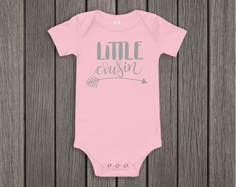 ddc4953ee Little Cousin Outfit, Pregnancy Announcement Onesie, Baby announcement  Onesie, Custom Baby Onesie, Baby Reveal, Little Cousin, Gender Reveal
