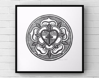 image regarding Martin Luther Seal Printable named Luther seal Etsy