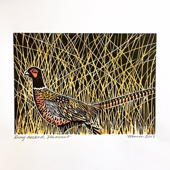 Rink-Necked Pheasant Applique Patch Iron on