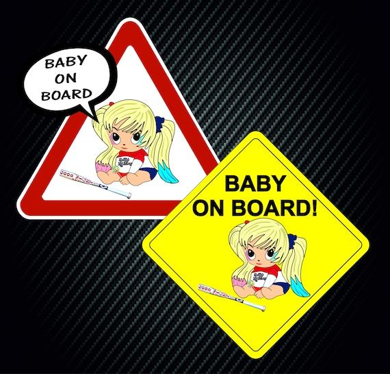 Harley Quinn Bebé a Bordo Ventana Pegatina De Vinilo