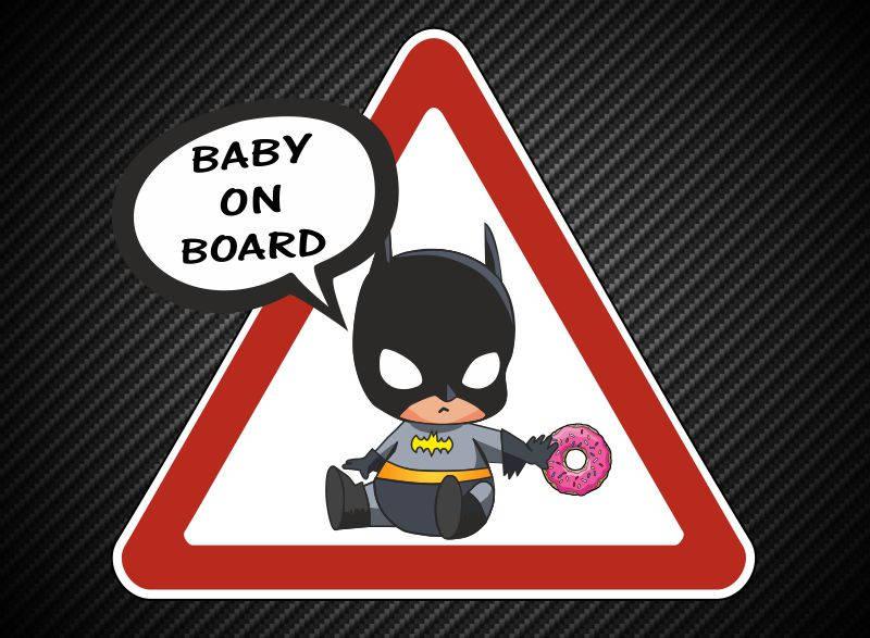 bed7fd8a9 Baby on Board Batman Car sticker | Etsy