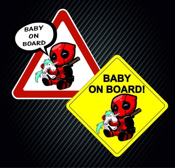 1 Marvel ironman personnalisé bébé à bord voiture signe